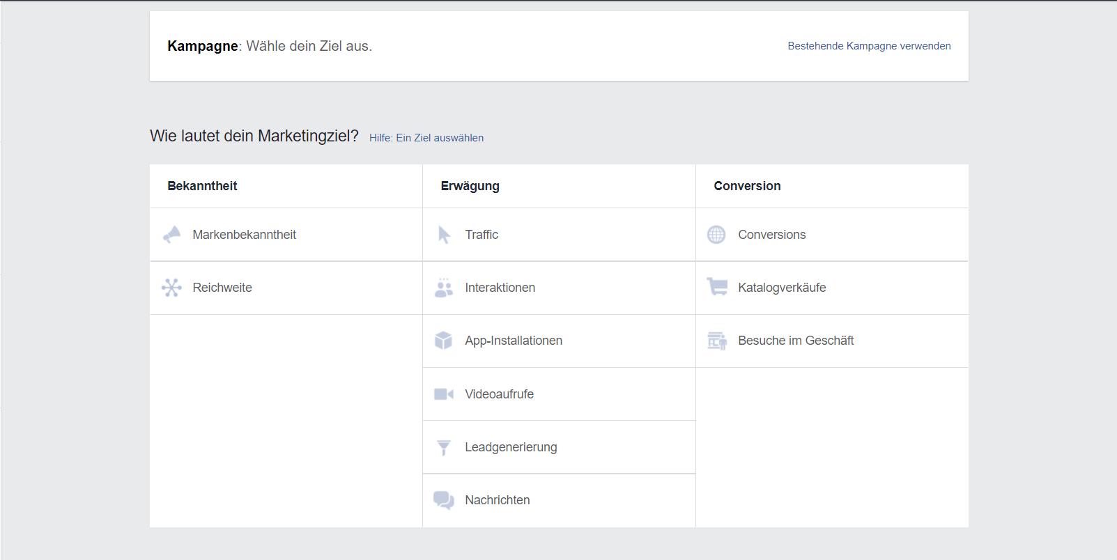 Mit dem Werbeanzeigenmanager von Facebook können schnell und einfach Anzeigen für Yogstudios geschalten werden.